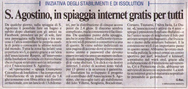 il_messagero_spiaggia_wifi